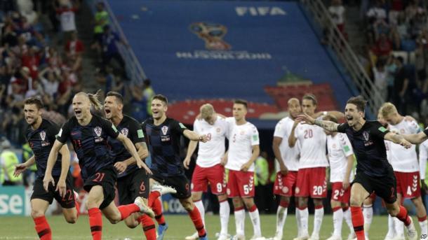 Todo Croacia festeja la clasificación.