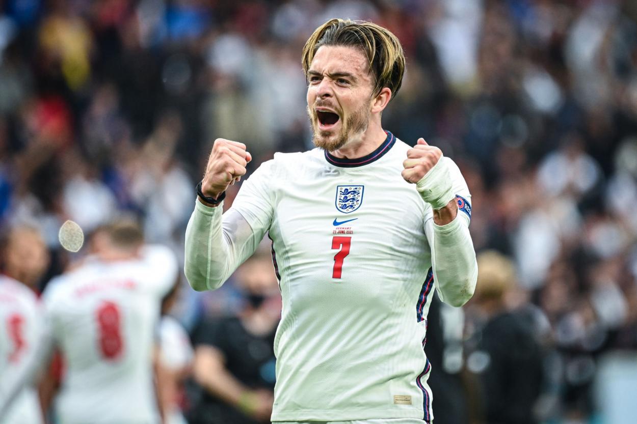 Grealish celebrando la clasificación / FOTO: UEFA