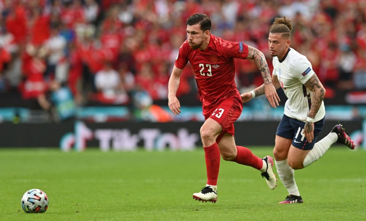 Hojbjerg orquestó los mejores minutos de Dinamarca / FOTO: UEFA