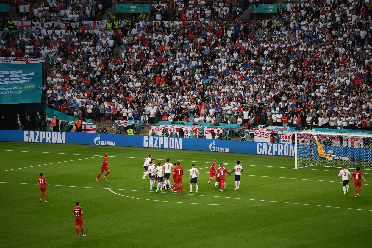La toma del gol de Damsgaard / FOTO: UEFA