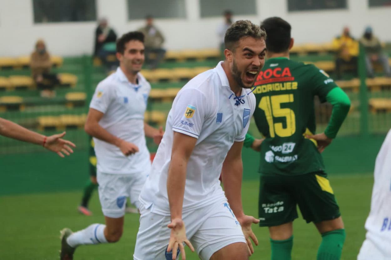 Martín Ojeda festeja el gol de la victoria. Foto: Prensa de Godoy Cruz