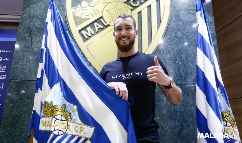 Primera foto de Peybernes como malaguista / Fuente: Málaga CF