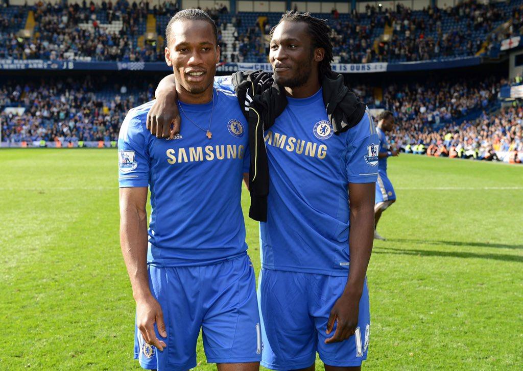 Imagen de Lukaku junto a Drogba / Fuente: Chelsea