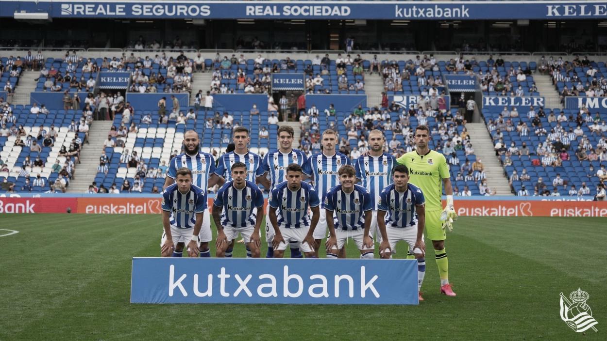 El XI inicial de la Real Sociedad B // Foto: Real Sociedad