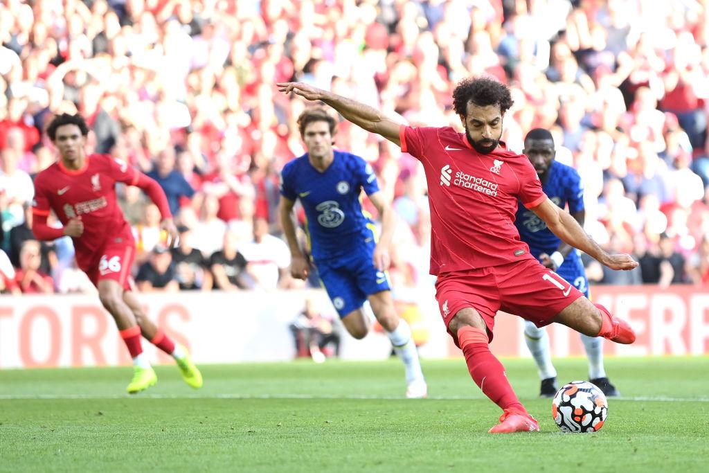 Salah transformó el penalti para el 1-1 / Foto: Twitter @LFC
