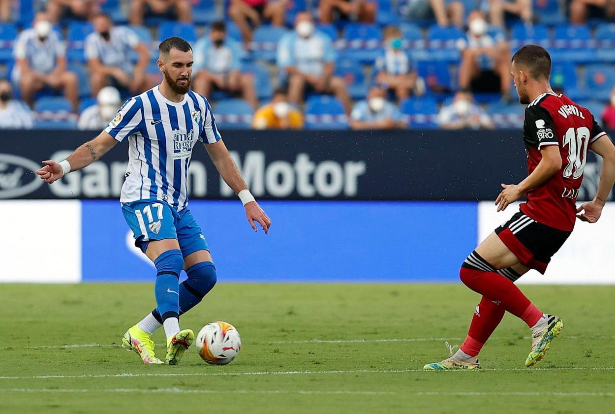 Peybernes en su debut con el Málaga CF / Fuente: Málaga CF