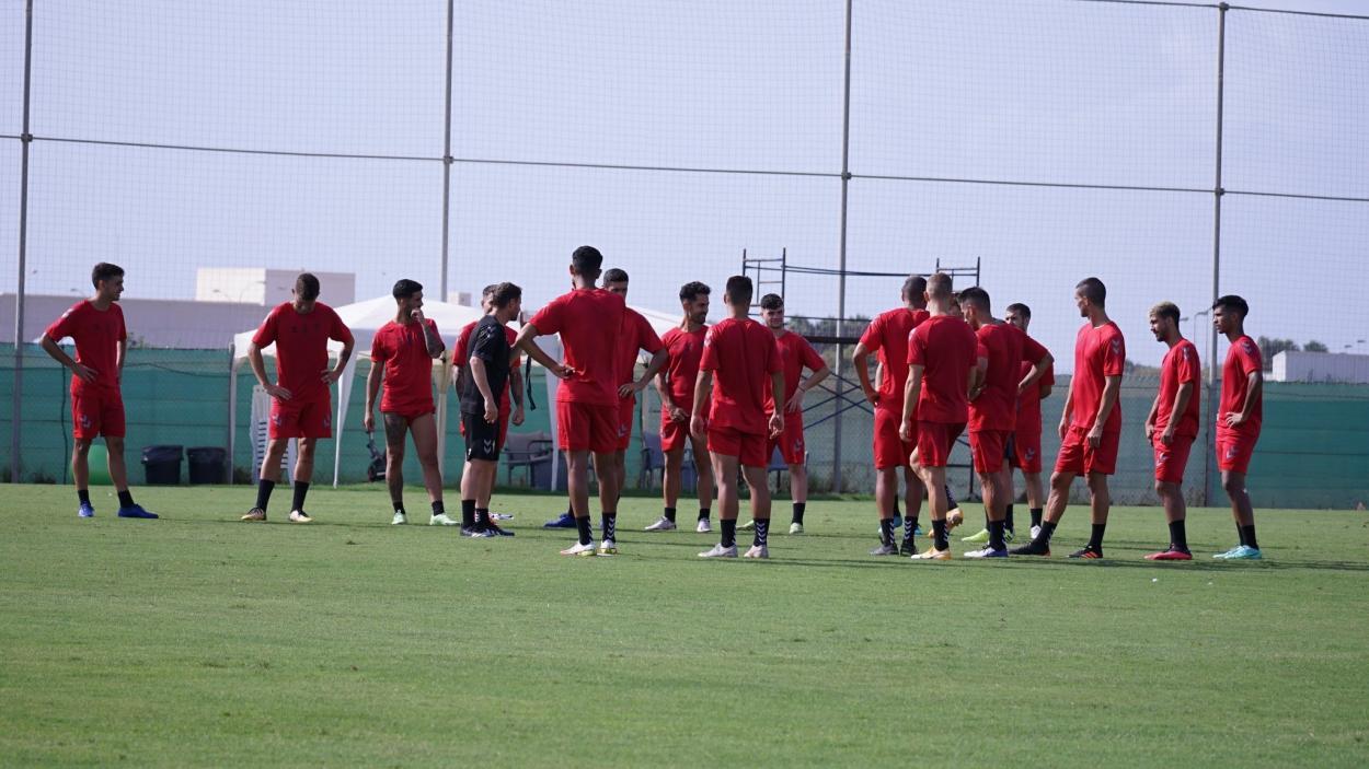 Imagen del entrenamiento del Real Murcia / Fuente: Real Murcia CF