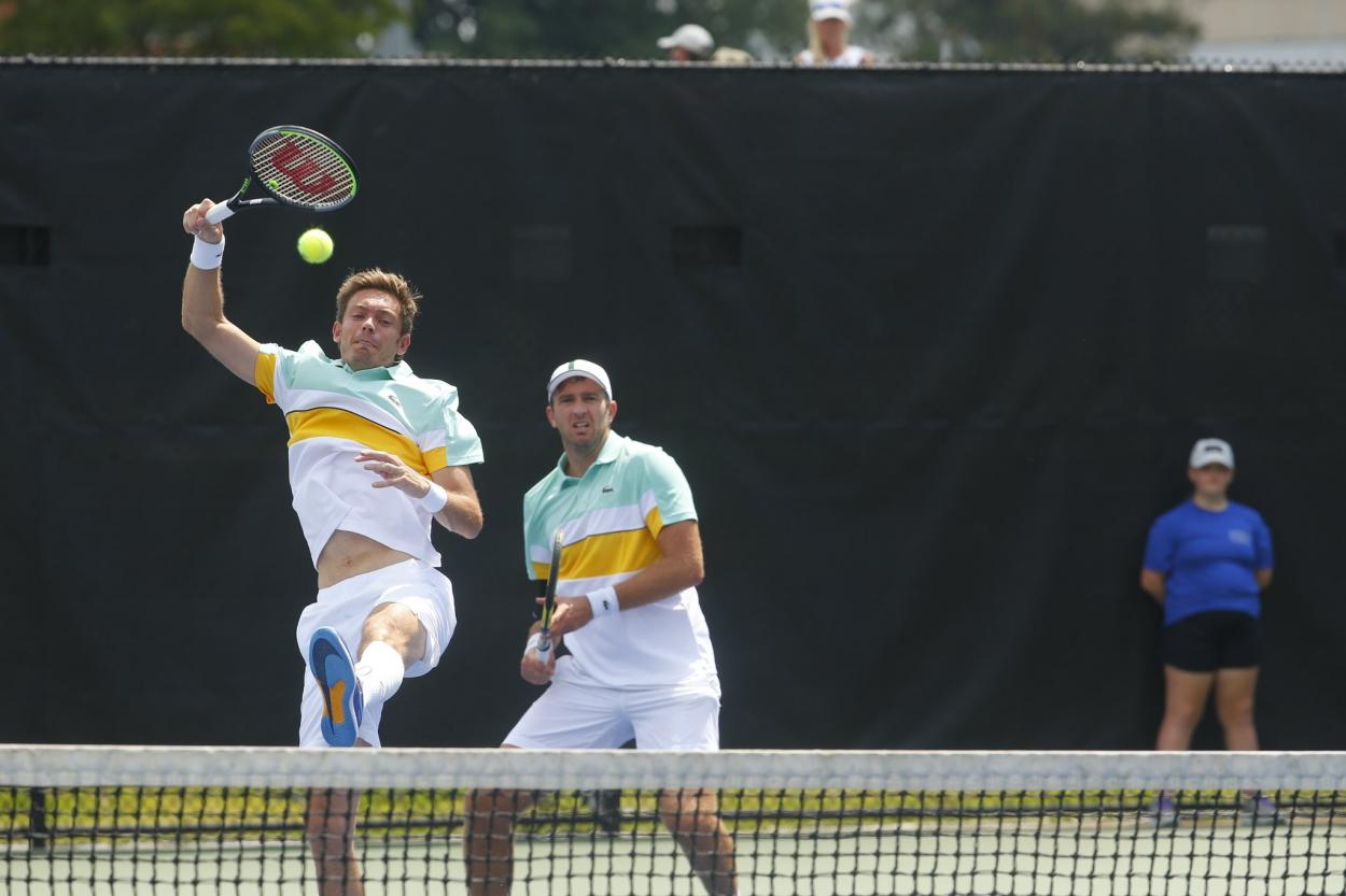 Mahut (l.) and Martin (r.) in action/Photo: Winston-Salem Open