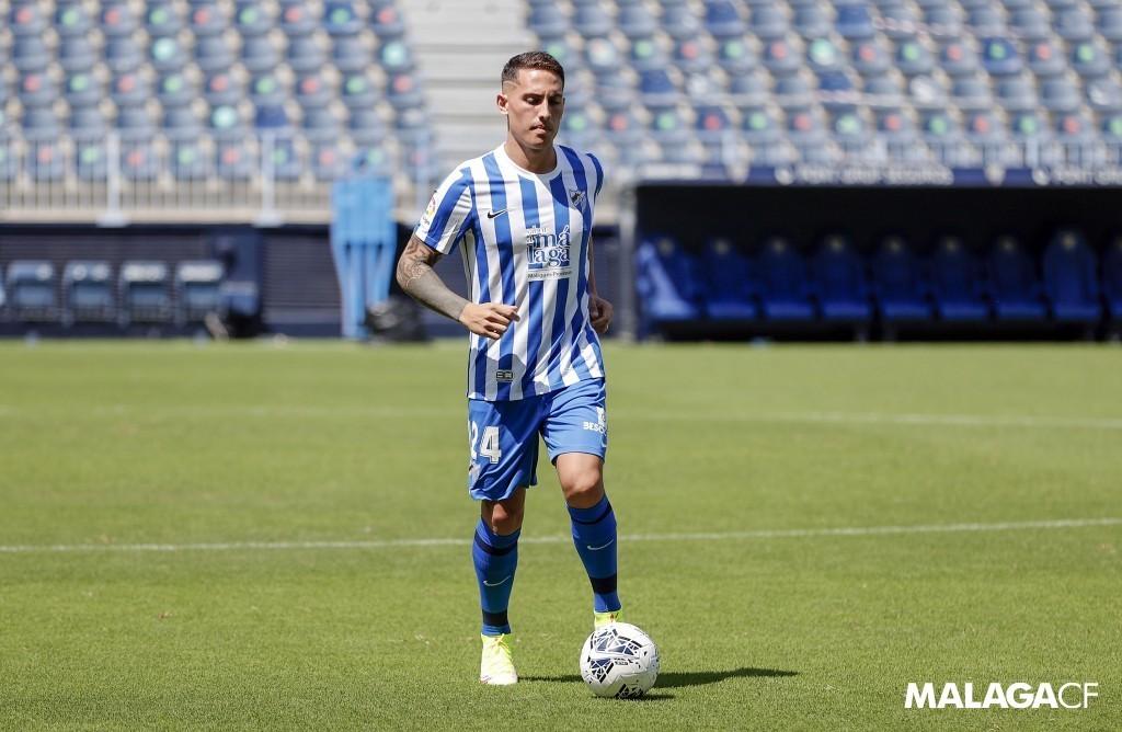 Cufré en su presentación oficial como nuevo futbolista del Málaga CF / Fuente Málaga CF
