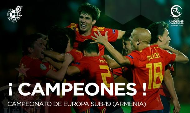 España, campeona de Europa sub-19 / Foto: @SelFutbol