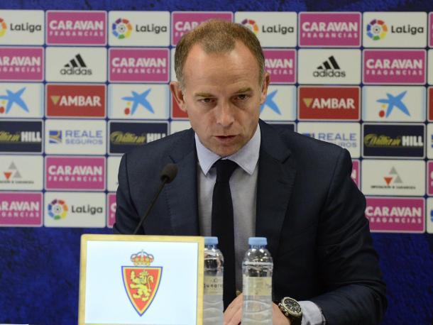 Christian Lapetra anunciando los cambios del Consejo | Foto: Real Zaragoza
