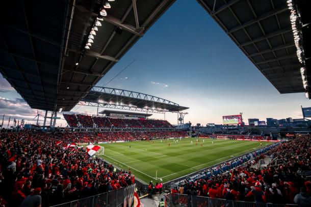 BMO Field lleno para recibir al equipo (@TorontoFC)