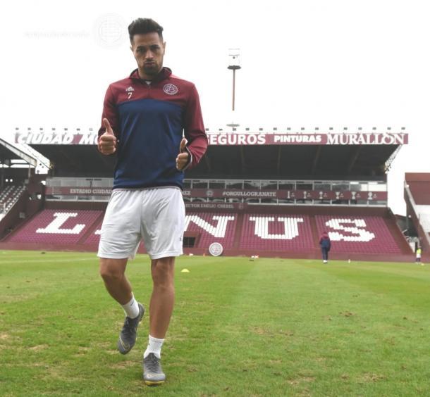 Lautaro Acosta, jugador que estaba y duda y podrá ser parte del partido.   Fuente: Lanús.