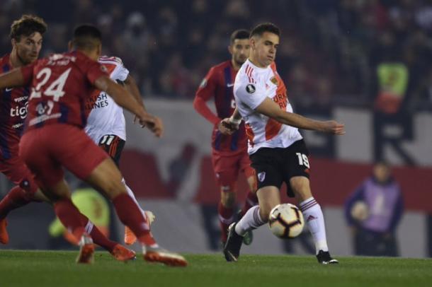 Borré metió el segundo gol. Foto: River Oficial.
