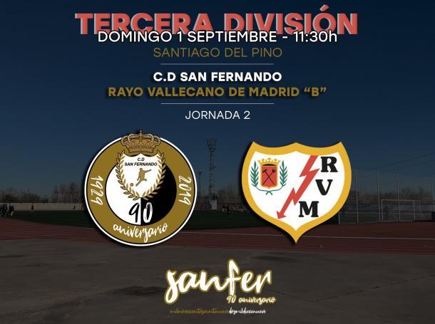 El Rayo B goleó al CD San Fernando de Henares. Fuente: Twitter del CD San Fernando de Henares.