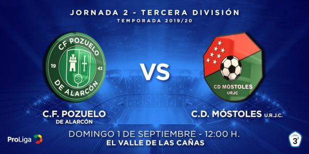 El CD Móstoles URJC venció por la mínima al CF Pozuelo de Alarcón. Fuente: Twitter del CD Móstoles URJC.