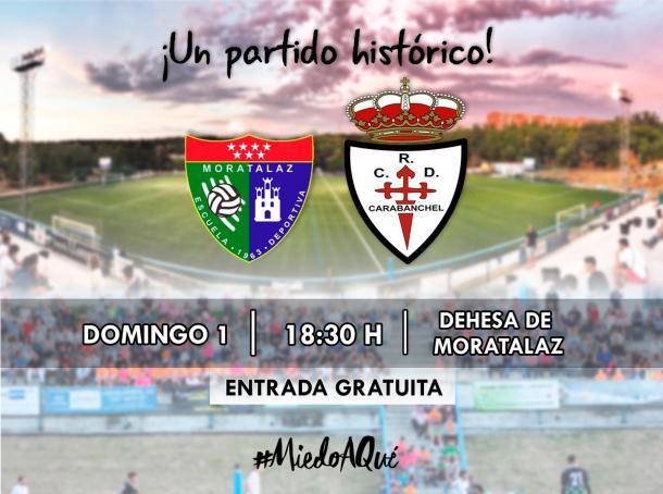 La ED Moratalaz perdió en su primer partido en casa en Tercera División. Fuente: Twitter de la ED Moratalaz.