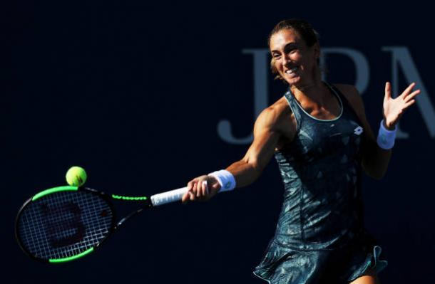 Martic troubled her opponent at time but was not consistent enough (Getty/Elsa)