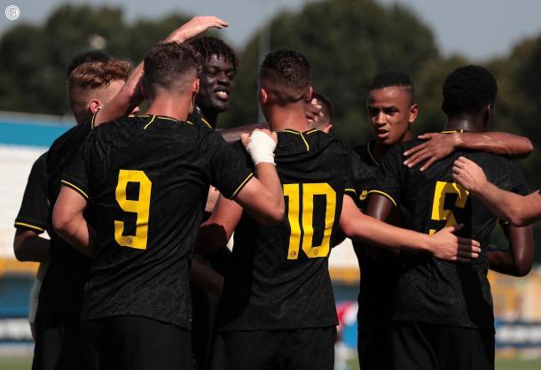 El juvenil del Inter de Milán celebrando un gol. FOTO: Inter de Milán
