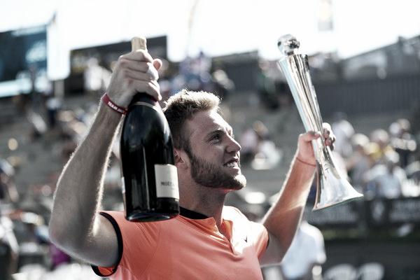 Jack Sock celebrando la victoria en el ASB Classic de Auckland | Foto: Phil Walter