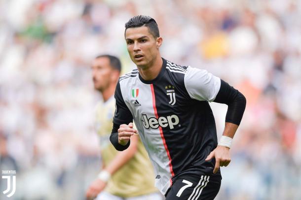 Cristiano Ronaldo in un'azione di gioco | Source: @juventusfc