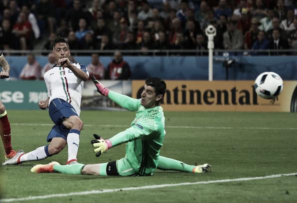 Giaccherini scores against Belgium. | Image credit: Ian MacNicol/Getty Images