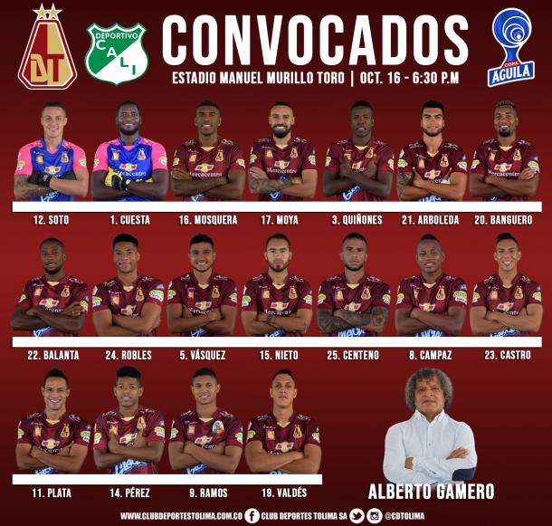 Foto: Twitter Deportes Tolima (@cdtolima)