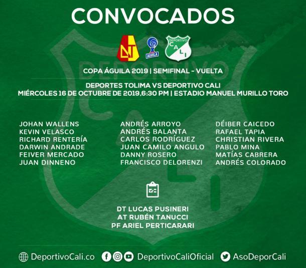 Foto: Twitter Deportivo Cali (@AsoDeporCali)