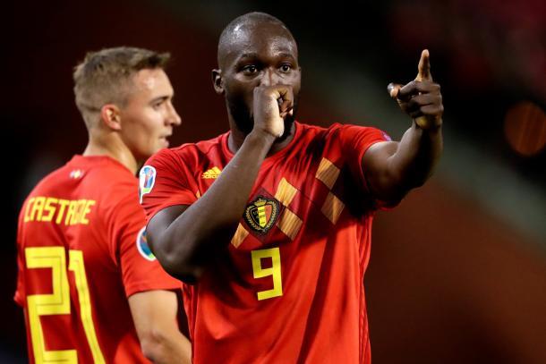 Atacante Lukaku chegou aos 51 gols marcados em 83 jogos com a camisa da Bélgica   Foto: Divulgação/Belgian Red Devils