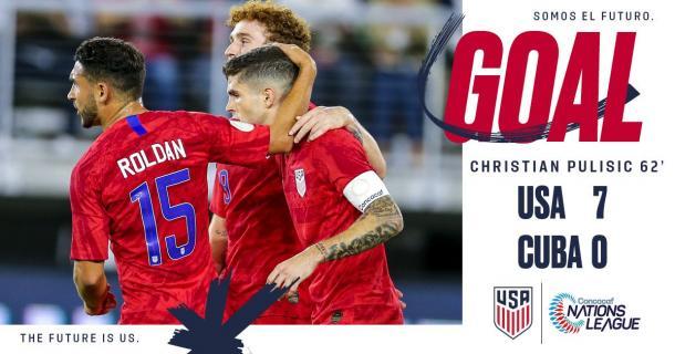 Christian Pulisic sentenció el marcador | Foto: U.S. Soccer