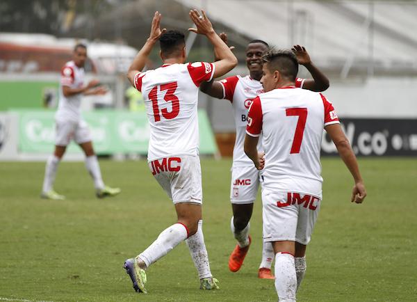 Kelvin Osorio marcó su sétimo gol con Santa Fe. Imagen: Dimayor.