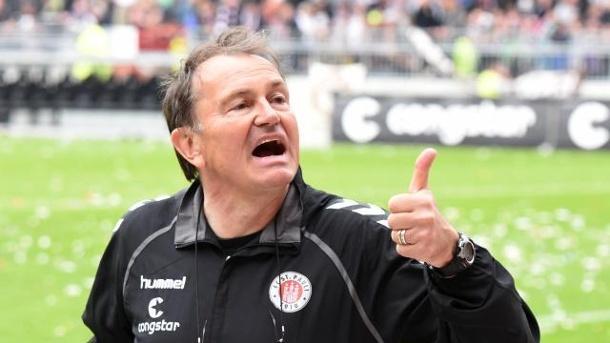 Ewald Lienen has led St. Pauli to a superb season. | Image source: t-online