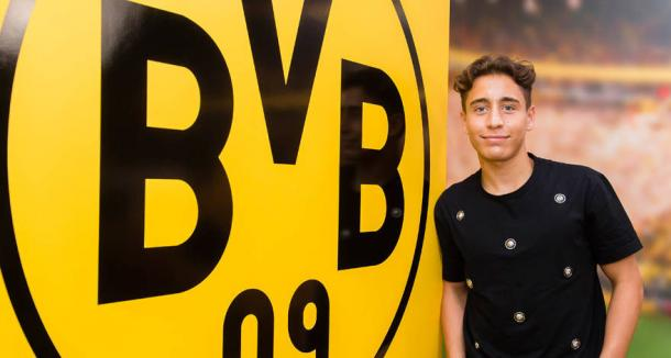 Emre Mor was delighted to have joined the German giants. | Image source: Borussia Dortmund
