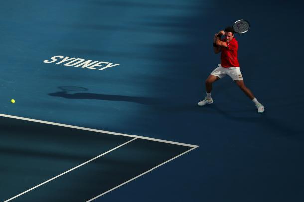 Roberto Bautista bajo la tarde de Sydney | Foto: ATP Cup
