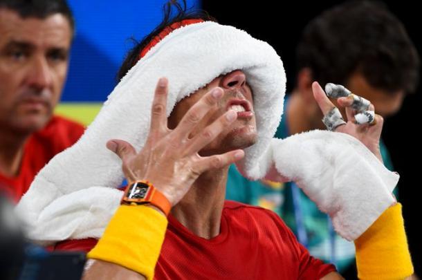 Nadal, incómodo | Foto: ATP Cup