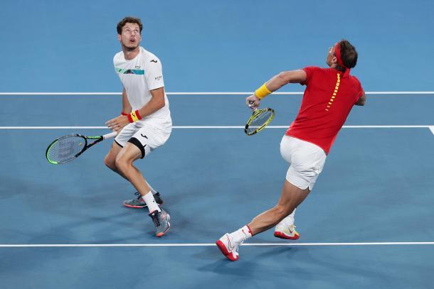 Nadal y Carreño confrontaron la pareja española | Foto: ATP Cup