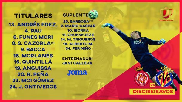 Once inicial Villarreal / Foto: @VillarrealCF