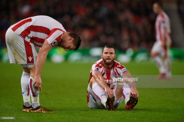Erik Pieters (L) could be a doubt due to an injury sustained against Newcastle United. Source | Getty Images.