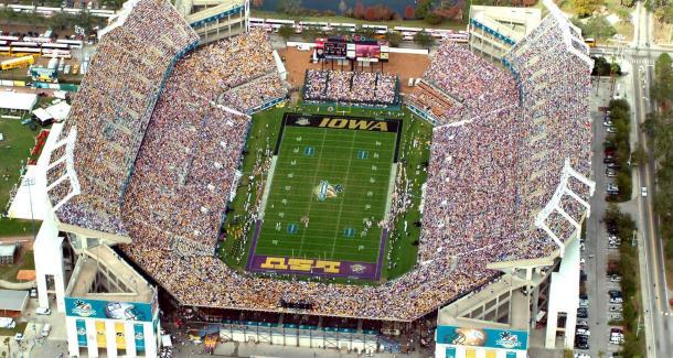 Citrus Bowl em dia de jogo de futebol americano do college (Foto: Getty Images)