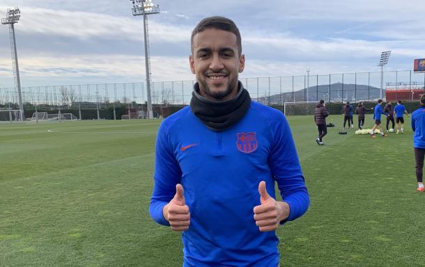 Matheus Pereira posando antes de un entrenamiento. FOTO: FC Barcelona