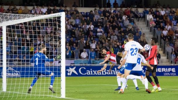 Williams empatando el partido / Foto: Twitter oficial del Athletic Club