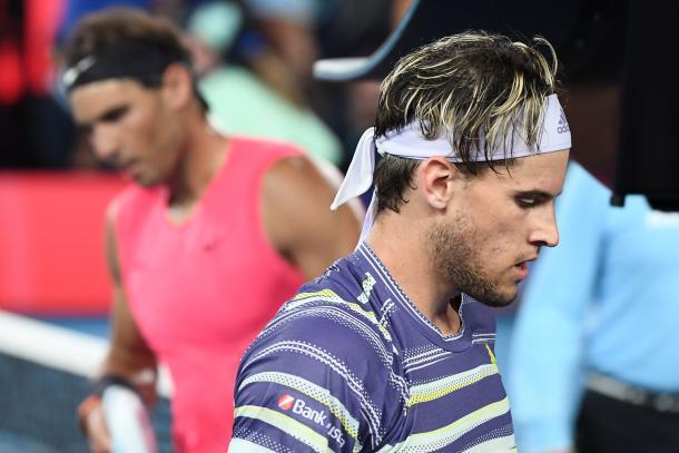 Ambos tenistas se preparaban para la batalla final | Foto: Australian Open