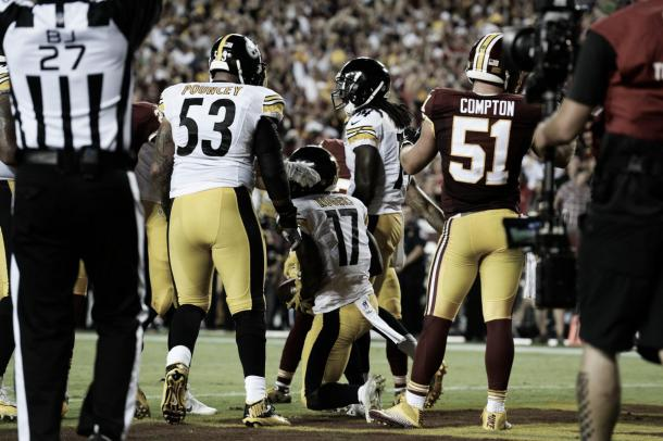 Eli Rogers picked up his first NFL touchdown in the Steelers' big win | Source: steelers.com