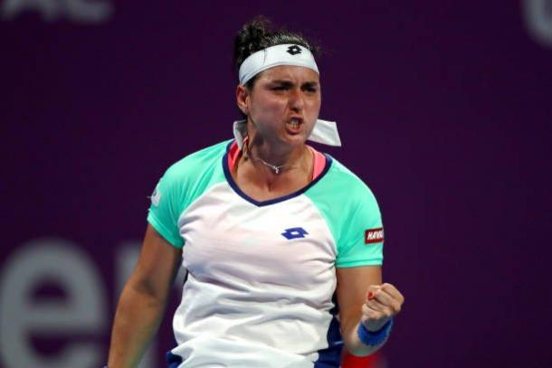 Jabeur won for the first time in six career appearances in Doha/Photo: Dean Mouhtaropoulos/Getty Images