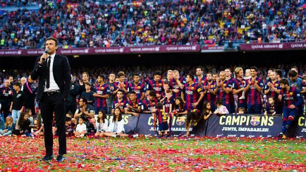 Luis Enrique tras ganar la Copa (foto ESPN)