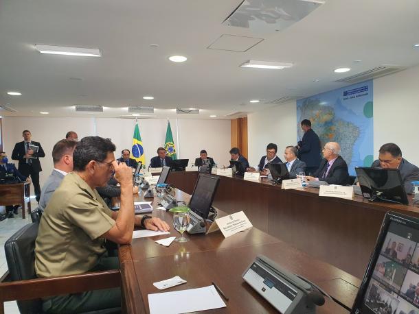 Reunião do presidente com governadores nordestinos (Foto: Reprodução/Jair Bolsonaro)