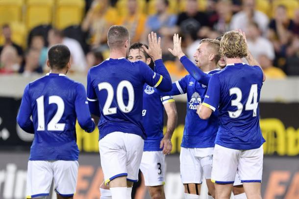 Deulofeu was Everton's star man. | Image credit: Everton FC