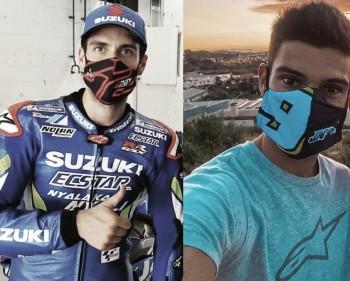 Rins y Navarro con mascarilla. Foto: instagram.com