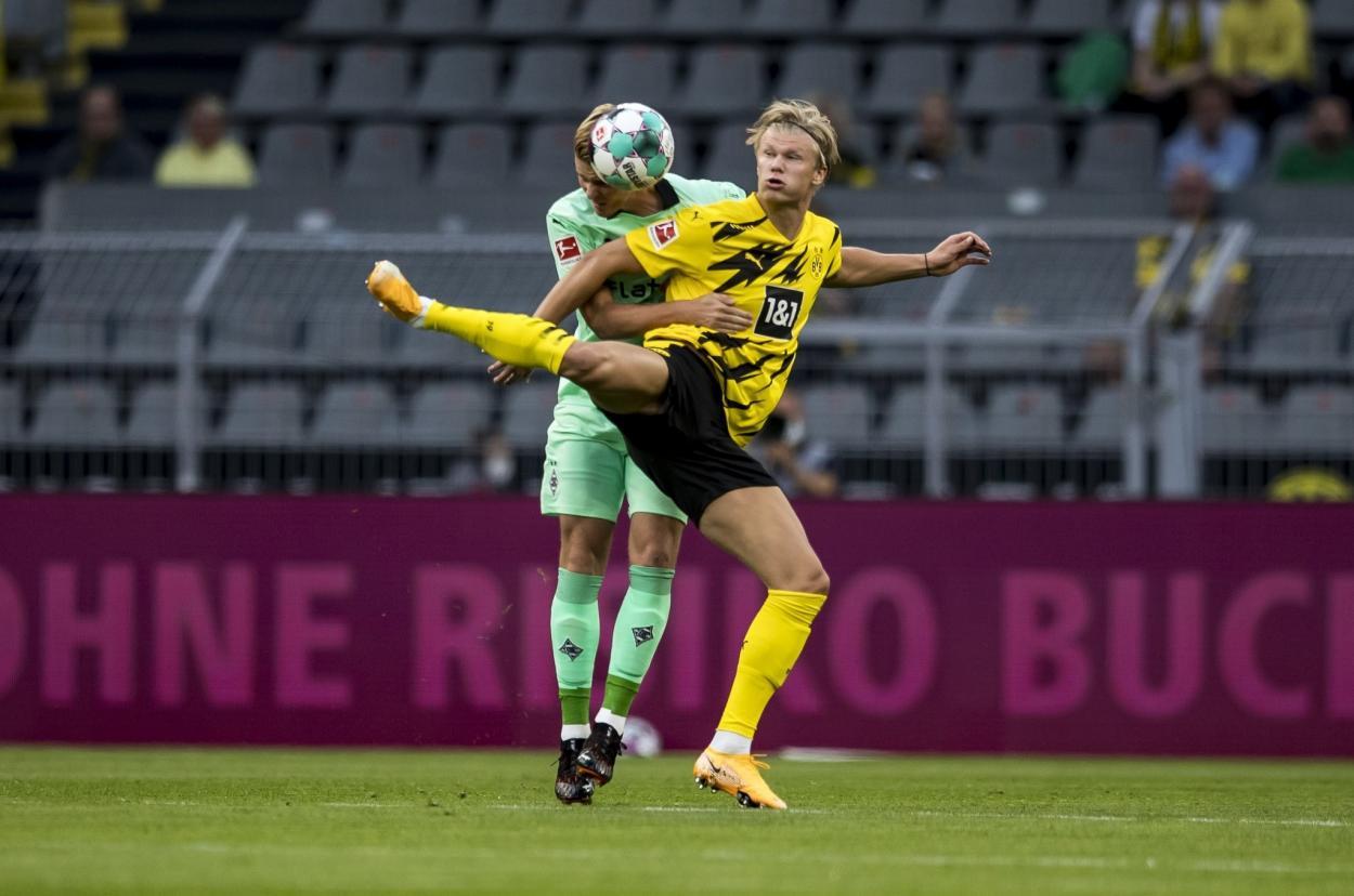 Erling Haaland frente al Borussia Mönchengladbach / Fuente: Borussia Mönchengladbach