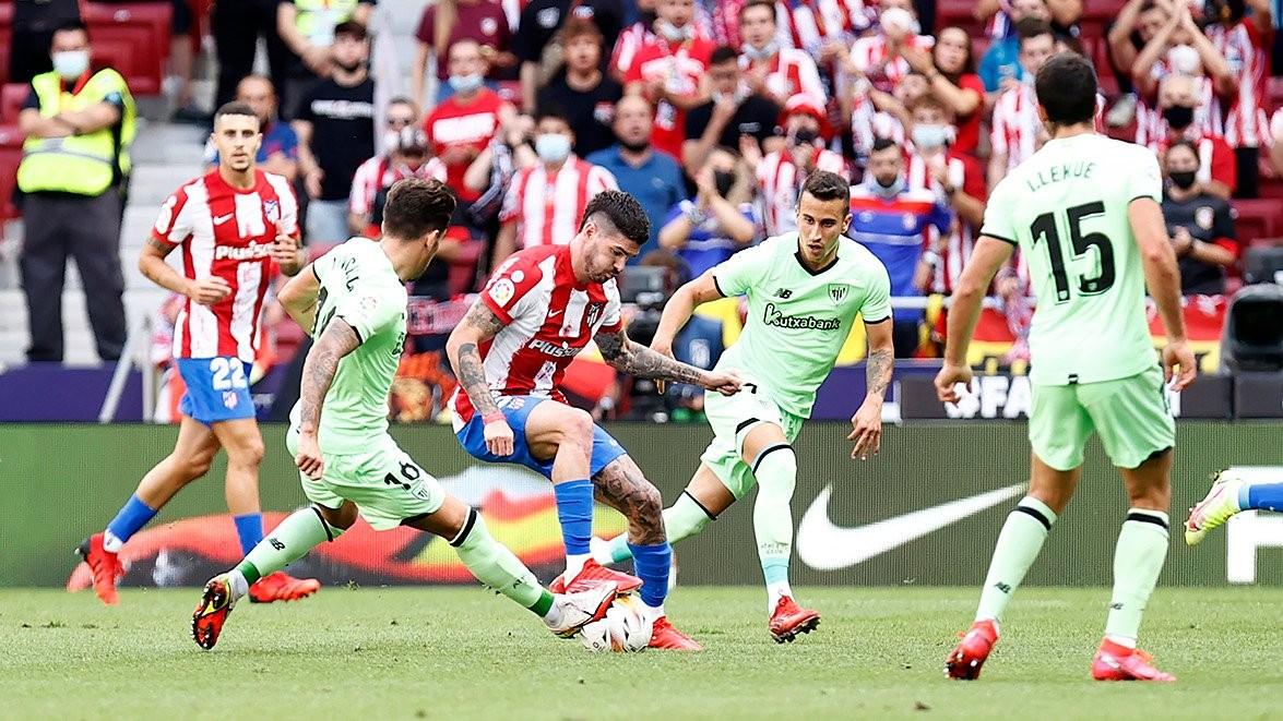 Imagen del último partido del Atlético de Madrid / Fuente: Atlético de Madrid